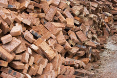 Chinese Red Bricks Stock Photography