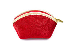 Chinese red brocade bag. This is an ornament silk bags Stock Photography