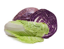 Chinese and red cabbage Stock Images