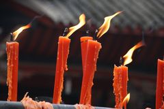 Free Chinese Red Candle Royalty Free Stock Photography - 107512487