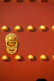 Chinese Red Door Stock Photography