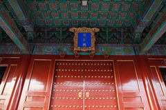 Chinese Red Door Royalty Free Stock Images