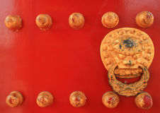 Chinese red door Royalty Free Stock Photography