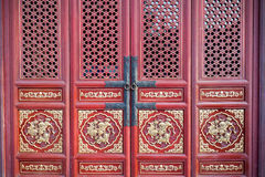 Chinese red door Stock Photos