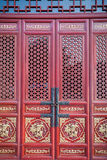 Chinese red door Royalty Free Stock Photo