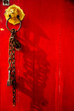 Chinese red door shrine Royalty Free Stock Images