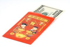 Chinese red envelope. Given during Chinese New Year Royalty Free Stock Photos