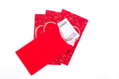 Chinese Red Envelope use in Chinese new year festival on white. Chinese Red Envelope use in Chinese new year festival on white background. Translation in Royalty Free Stock Photos