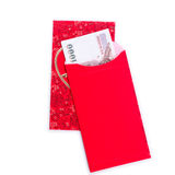 Chinese Red Envelope use in Chinese new year festival on white. Chinese Red Envelope use in Chinese new year festival on white background. Translation in Royalty Free Stock Image