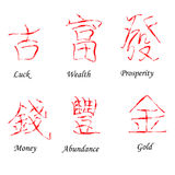 Chinese Red Hieroglyphs Royalty Free Stock Image