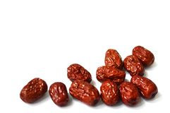 Chinese Red Jujube Isolated from White Background. royalty free stock image