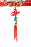 Chinese red knot. Chinese Knot and jade  with tassel Stock Images