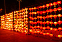 Chinese red lamp. Chinese red lanterns. Display Chinese god of wealth. Chinese dragon Royalty Free Stock Image