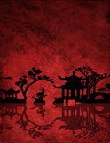 Chinese Red Landscape Royalty Free Stock Photography
