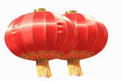 Chinese red lantern. Isolated on the white background Royalty Free Stock Images