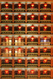 Chinese red lantern. The building of a hotel is decorated with red lanterns during the Chinese New Year(Spring Festival) and Lantern Festival Royalty Free Stock Photography