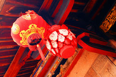 Chinese red lantern Stock Image