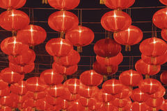 Chinese red lantern in the night. Chinese red paper lantern in the night Royalty Free Stock Photos
