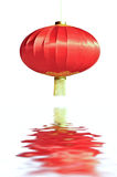 Chinese red lantern and reflections Stock Photos