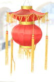 Chinese red lantern on snow Royalty Free Stock Images