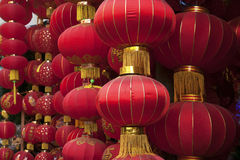 Chinese red lantern. Red lantern with Chinese traditional patterns in Spring Festival Stock Photography