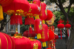 Chinese red lanterns Stock Photos
