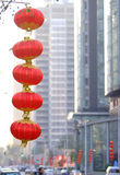 Chinese red lanterns Royalty Free Stock Photos