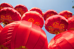 Chinese red lanterns Royalty Free Stock Photography