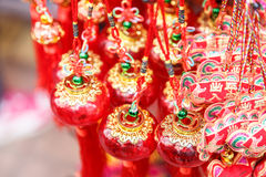 Chinese red lanterns Royalty Free Stock Images