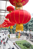 Chinese red lanterns in the new year Stock Photo
