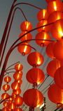 Chinese red lanterns background Stock Image