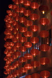 Chinese red lanterns at night for chinese new year Royalty Free Stock Image