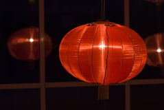 Chinese red lanterns at night for chinese new year Stock Photo