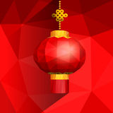 Chinese red lanterns on shatter gradient background Stock Photo