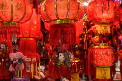 Chinese red lanterns. The traditional Chinese new year lanterns are for celebration. They mean happiness. In Spring Festival they guide the luck to your home Royalty Free Stock Photo