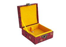 Chinese red open box Royalty Free Stock Image