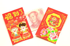 Chinese Red Packet. In Chinese and other Asian societies, a red envelope or red packet is a monetary gift which is given during holidays or special occasions Royalty Free Stock Photos