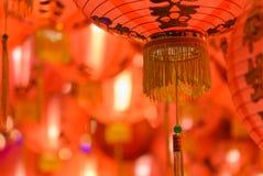Chinese red paper lantern Stock Photos