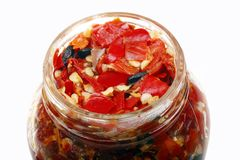 Chinese red pepper sauce Royalty Free Stock Images