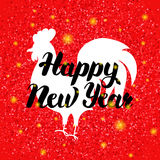 Chinese Red Rooster New Year Royalty Free Stock Photo