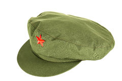 Chinese red star cap Stock Photography