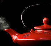 Chinese red teapot Royalty Free Stock Photography
