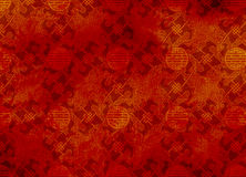Chinese Red Textured Pattern In Filigree Stock Photography