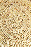 Chinese reed leaves woven spiral shape crafts of background Stock Photography