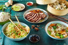 Chinese regional cuisine with assorted dishes royalty free stock photo