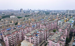 Chinese Residence Community. High density residence area in Anqing City, Anhui Province, China stock image