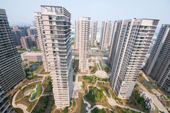 Chinese Residential building. Residential building in hefei china ,the price of real estate was booming in latest 20 years Stock Photo