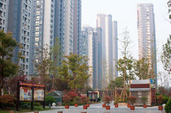 Chinese Residential community Stock Image
