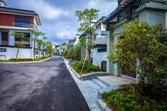 Chinese residential district Royalty Free Stock Image