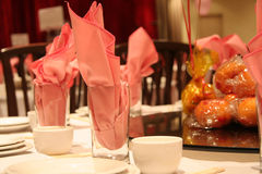 Chinese restaurant. Table setting stock images